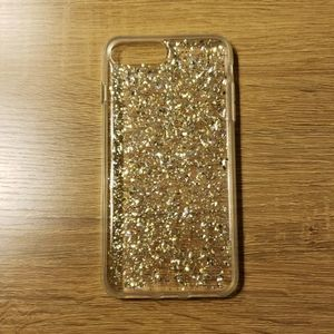 Nanette Lepore Clear Gold Silver iPhone 8 Plus